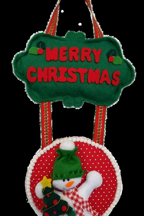 Snowman hanging door decoration