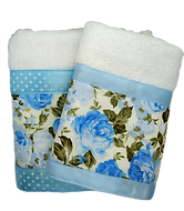 Face and hand towels kit light blue
