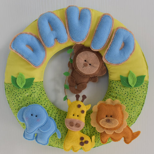 Baby Safari Wreath