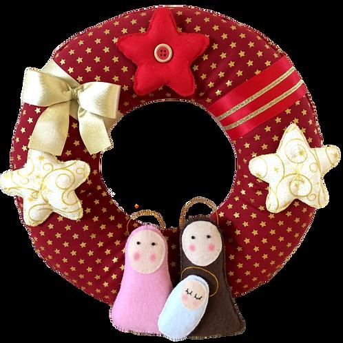 Holy Family Christmas wreath