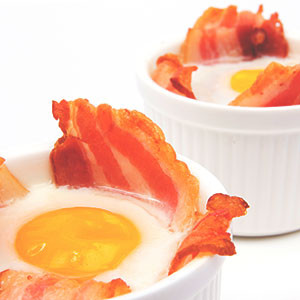 Egg and Bacon Baskets