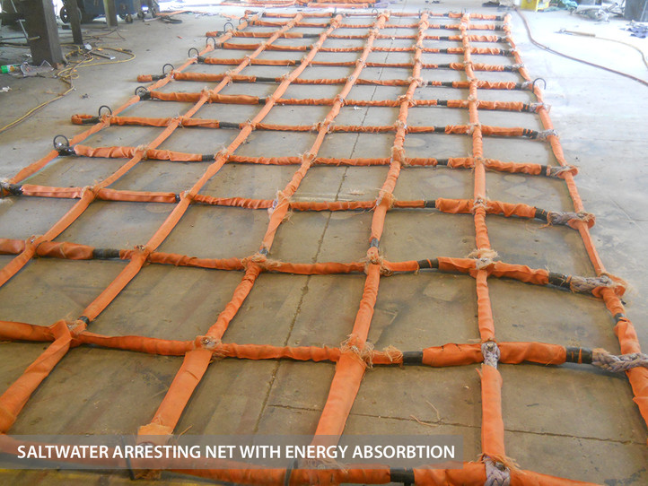 SALTWATER ARRESTING NET WITH ENERGY ABSORBTION