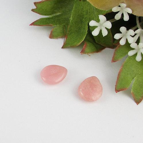 約10mm*12mmのしずく型のピンクオパール(ぼぼ屋の素材)BZ015