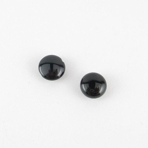 直径約10mmのコイン型のオニキス(ぼぼ屋の素材)BZ001