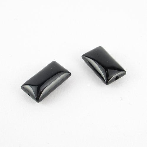 約8mm*14mmの長方形のオニキス(ぼぼ屋の素材)BZ002