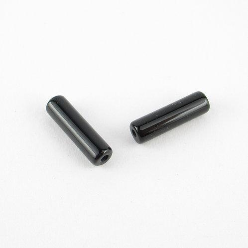 約3mm*12mmの筒型のオニキス(ぼぼ屋の素材)BZ005