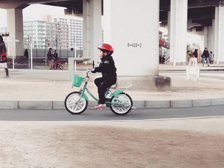 今日も自転車練習♪