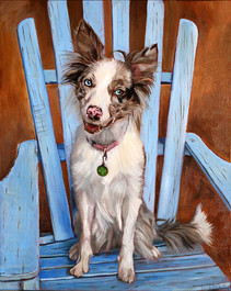 Handmade Dog Painting