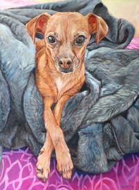 Custom Dog Portrait Portland