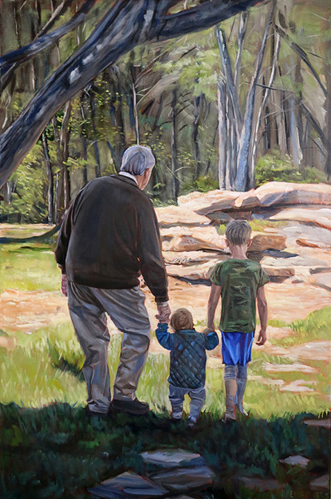 Custom Painted Family Portrait Austin