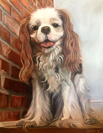 Puppy Painting by David Kennett