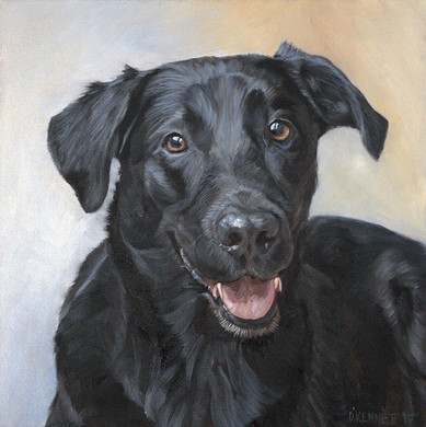 Hand-painted dog portrait San Diego