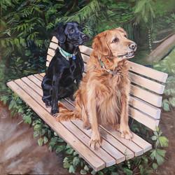 Multiple Dog Painting Portland