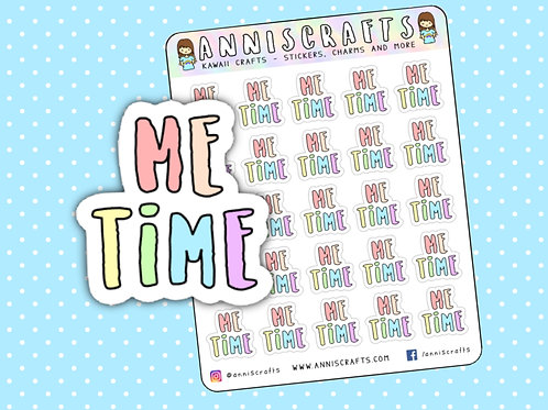 me time stickers, functional stickers, planner stickers, rainbow stickers, self care stickers