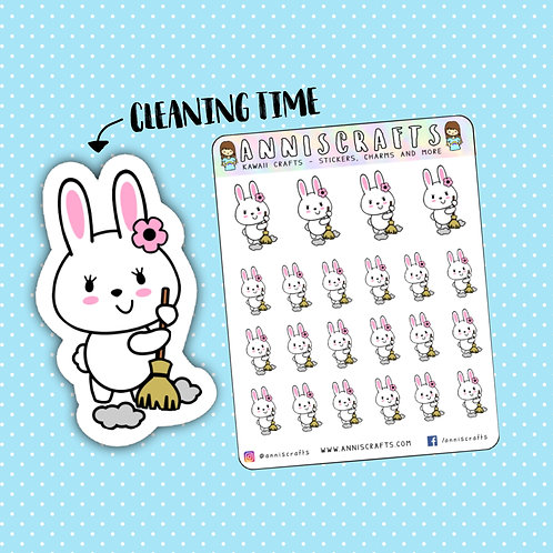 kawaii stickers, cleaning stickers, chores stickers, planner stickers, functional stickers, planner addict