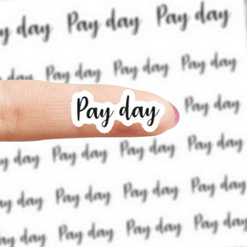 pay day stickers, pay day, planner stickers, pay day planner stickers, pay day, script stickers, text stickers