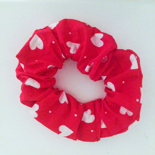 Red Heart Scrunchie Hair Tie