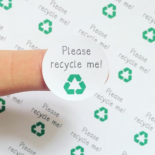 recycle stickers, recycling, environment stickers, please recycle me stickers, kawaii stickers, cute stickers