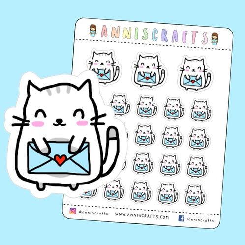 moochie the cat, cat stickers, happy mail, happy mail stickers, happy post stickers, kawaii planner, cat stickers, planner