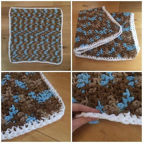 crochet blanket, camouflage blanket, handmade blanket, baby blanket, stroller blanket, crocheted