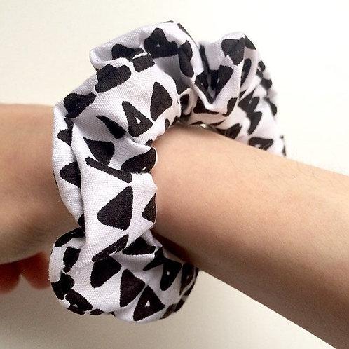 hair tie, cute hair tie, black and white hair scrunchie, hair scrunchie, hair accessory, birthday gift