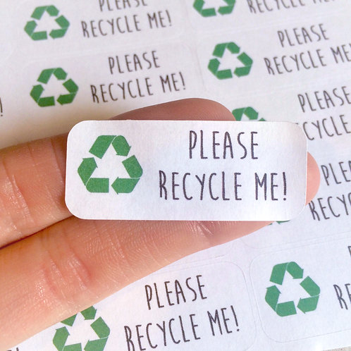 recycle me stickers, please recycle, environment stickers, save the planet, green stickers