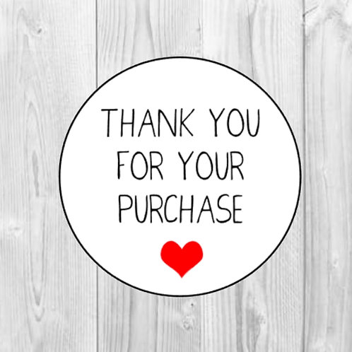 Thank You For Your Purchase Stickers Packaging Stickers