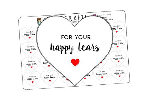 happy tears stickers, happy tears, wedding favor, wedding stickers