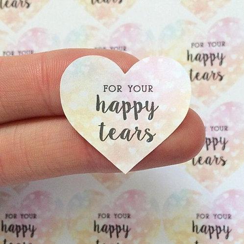 Wedding For Your Happy Tears Throw Me Confetti Wedding Favor Rainbow Stickers