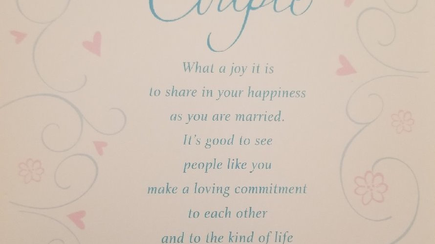 Congratulation Card's for Married Couples