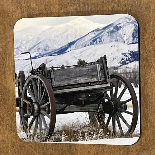 Winter Wagon Coaster