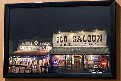 Christmas at the Saloon -11x17 Framed Poster Print