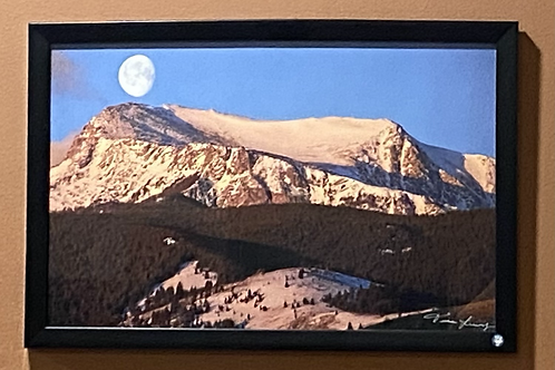 Mt Hollow Top and Moon-11x17 Framed Poster Print