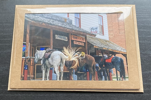 Historic Montana Bar Photo Note Card