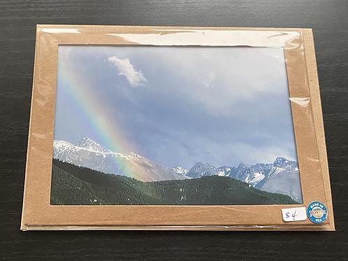 Spring Rainbow Photo Note Card