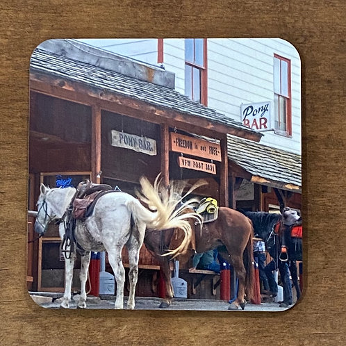 Historic Montana Bar Coaster