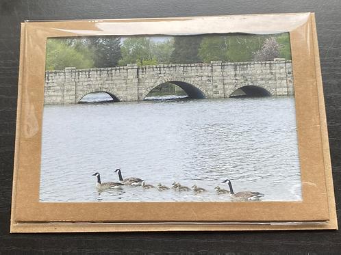 Historic Livingston Bridge Photo Note Card