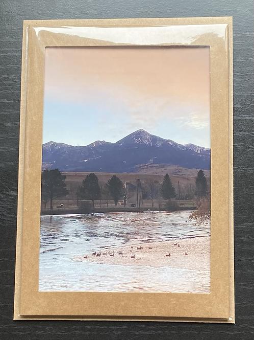 Livingston Peak Photo Note Card