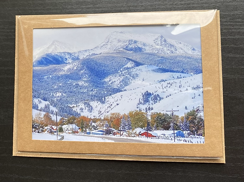 Montana Ghost Town Photo Note Card