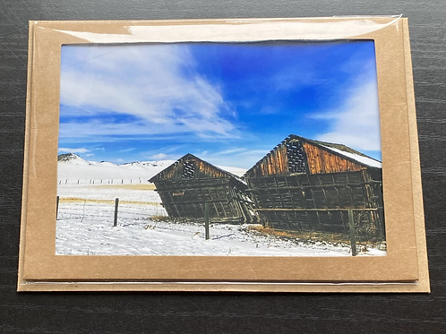 Collapsing History Photo Note Card