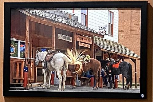 Historic Montana Bar-11x17 Framed Poster Print
