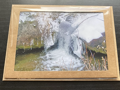 Creek Ice Bubble Photo Note Card