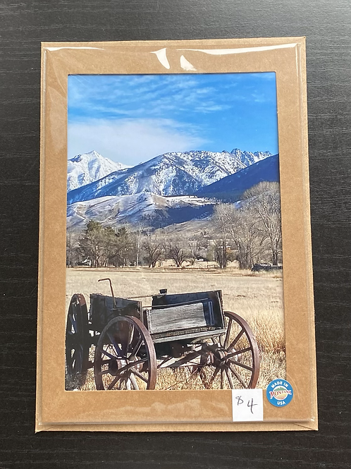 Old Wagon Photo Note Card
