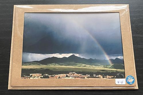 Rainbow Over Livingston Photo Note Card