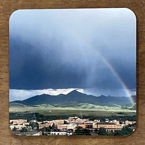 Rainbow over Livingston Montana Coaster