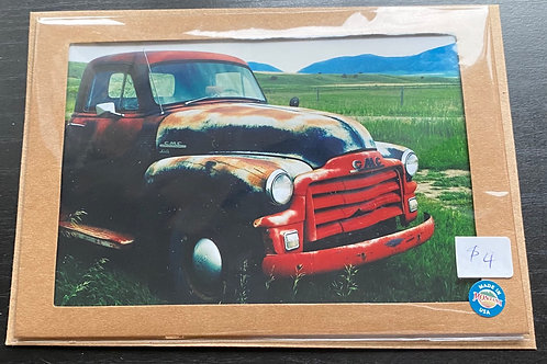 Old Truck Photo Note Card