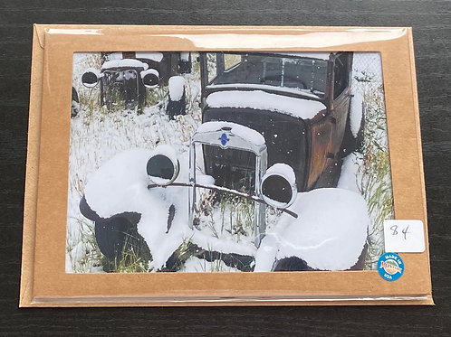 Spring Automobiles Photo Note Card