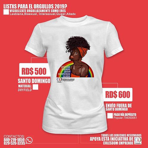 T shirt (Lesbiana, Bisexual, Intersexual, Queer, Aliado/a)