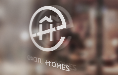 Excite Homes window signage
