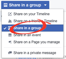 Share in group
